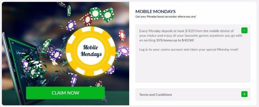 GoWild Casino Mobile Bonus details